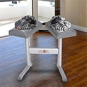 Ironman adjustable dumbbells 2.5lbs to 55lbs and Stand