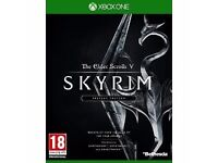Skyrim Special Edition Xbox One great condition