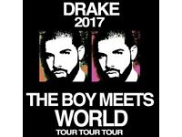 3 Drake The Boy Meets World Tour Standing Tickets Leeds First Direct Arena for 8/02/17