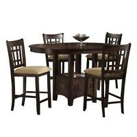 Serena counter height dining table and chairs