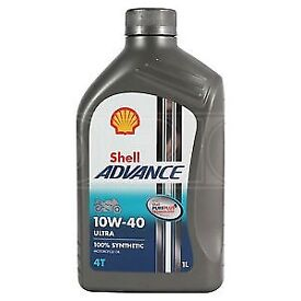 Shell Advance Ultra 4T 10W 40 Fully Synthetic Motorcycle Oil 10W40 1 Litre 1L