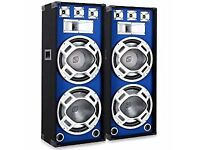 "2x Skytec Dual 10"" Speakers"