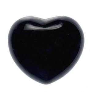 Black Obsidian Heart for Grounding and Balance