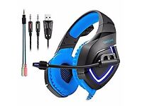 Light Gaming Headset PS4 MIC,3.5mm Over-Ear Headphone Earphone for X box One