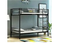 STRONG QUALITY METAL BUNK BED SINGLE BOTTOM AND TOP STANDARD 3FT SIZE BUNK BED