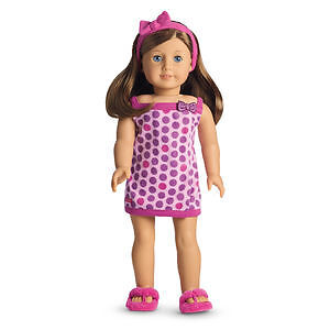 American Girl Doll Clothes- Lots of Dots Bath Wrap (Retired)
