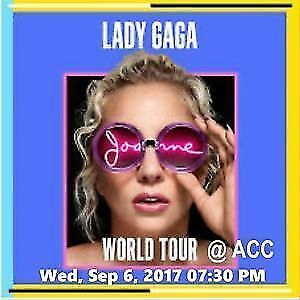 Lady Gaga Wed Sept 6th or Thurs Sept 7th