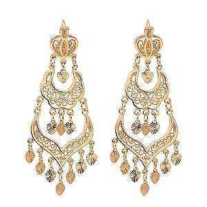 Chandelier earrings ebay gold chandelier earrings mozeypictures Gallery