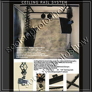 Four Head Photo Studio Lighting Support Ceiling Rail System