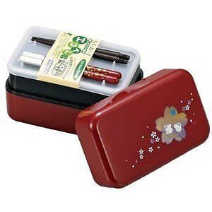 Japanese Sakura Hakoya Lunch Bento Box w/ Chopsticks #51665
