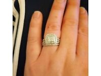 18 carront gold diamond ring set (bridal)