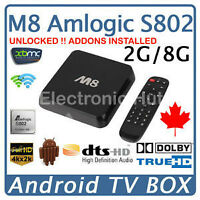 M8 4K Google Android Quad core free TV Channels Movies,Shows