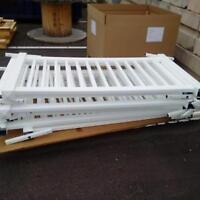 White Portable Signature Fencing