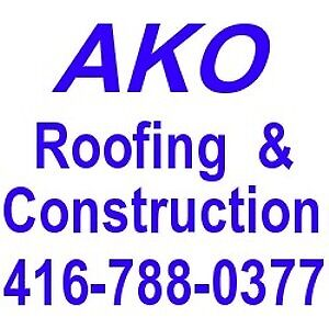 Roof repair and re-roofing flat roof,shingle roof,eaves,skylight