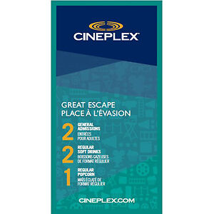 CINEPLEX COUPLES NIGHT OUT TICKETS