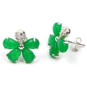 Dark Green Jade Earrings