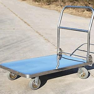 Heavy Duty Platform Truck Cart Hand Trolley Flat Bed Warehouse 1100Lbs (020342)