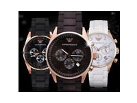 Armani, adidas, Chanel and tommy hilfigher watches