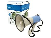 Adastra 25w Megaphone with Siren, Inc 5M Power Lead for 12V Car / Van Output