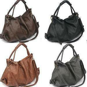 Korean Leather Hobo Shoulder Bags