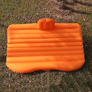 Travel Outdoor Camping SUV Car Back Seat Air Mattress Rest Inflatable Bed Airbed (Orange) 251397