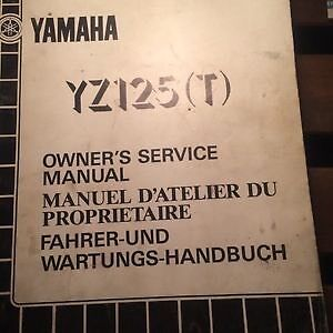 1986 Yamaha YZ125T Owners Service Manual