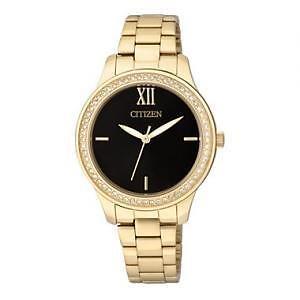 Citizen Everyday Womens Crystal-Accent Bracelet Watch EL3088-59A
