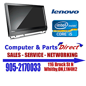 """Lenovo i5 All in One Blowout 250GB -23"""" Screen -DVD Writer -Win7"""