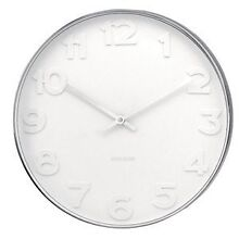 Karlsson Wall Clock Mr White Steel 38cm North Sydney North Sydney Area Preview