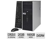 For Sale PC great for beginners (full package, keyboard,screen, motherboard,mouse,MS Packages & AVG)