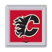 "Calgary Flames 9"" Square Neon Wall Clock (New)"