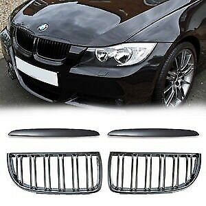 Bmw e90 3 series 2006-2008 glow black double rib front grill