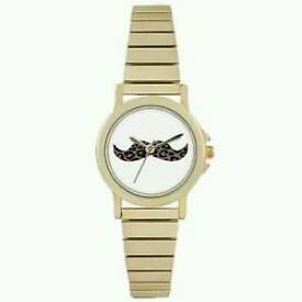 Brand New ladys gold moustache watch