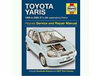 TOYOTA YARIS 1999 TO 2005 MANUAL