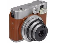 Fujifilm Instax Mini 90 Instant Camera in Brown, uk adapter for charger required