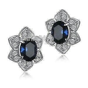 saphire diamond drop and sapphire earrings picture of oval