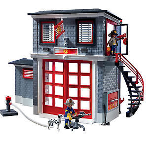 PLAYMOBIL City action Fire Rescue Station & Ladder London Ontario image 1