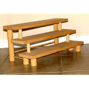 3 Tier Wood Shelf :: As Shown ::  NEW
