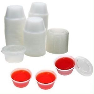 2 ounce Jello shot cups with lids (100 count) wedding/party/grad