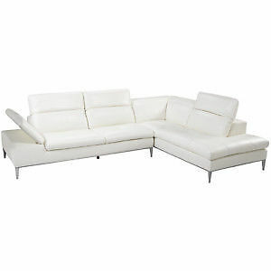 MODERNE SUNPAN SECTIONAL SOFA EN CUIR BLANC bought/ acheté2900$