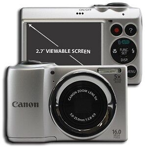 Clearance Canon PowerShot A810 16.0 MP Digital Point and Shoot Camera