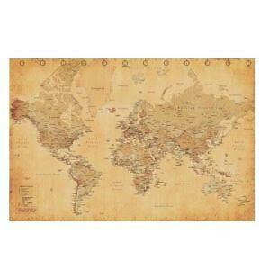 World Map Poster EBay - Large sepia world map