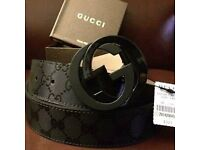 Gucci Black Imprime Belt mens brand New
