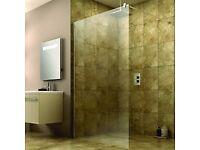 Wickes wet room frameless shower screen, BNIB.