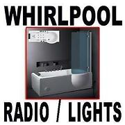 P Shape Whirlpool Bath