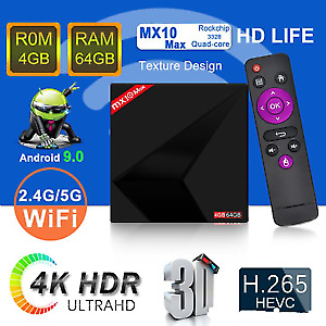 MX10 Max 4gb/64gb.Android TV Box