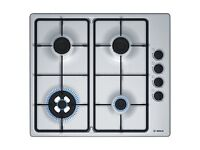 Bosch PBH6B5B60 Serie 2 Built in 58cm 4 Burners Gas Hob Brushed Steel From