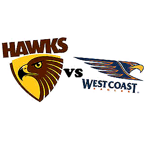 Hawthorn vs West Coast Eagles - 2 adult tickets $8 each Melbourne CBD Melbourne City Preview