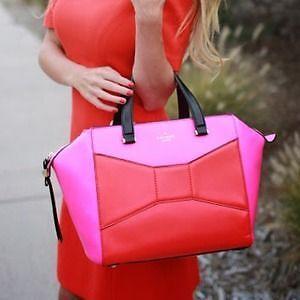 kate spade beau snapdraggon pink red handbag tote purse Belleville Belleville Area image 7