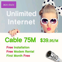 Unlimited Home internet 75mb only $39